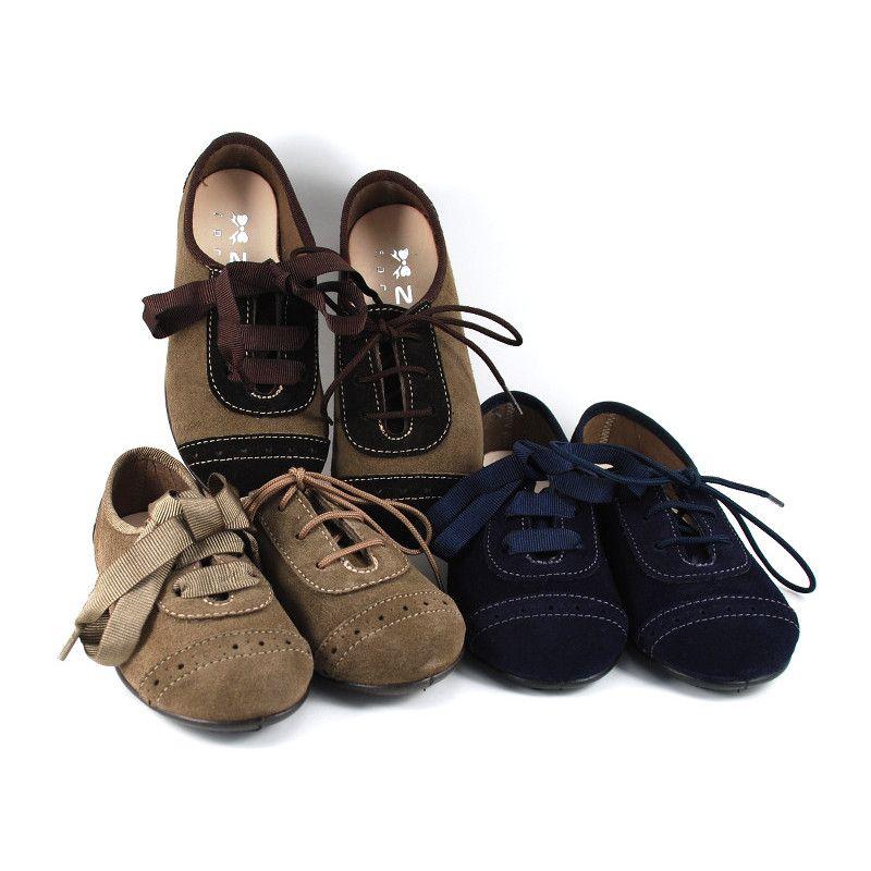 Zapato Blucher Serraje / Ante (TALLA PEQUEÑO)