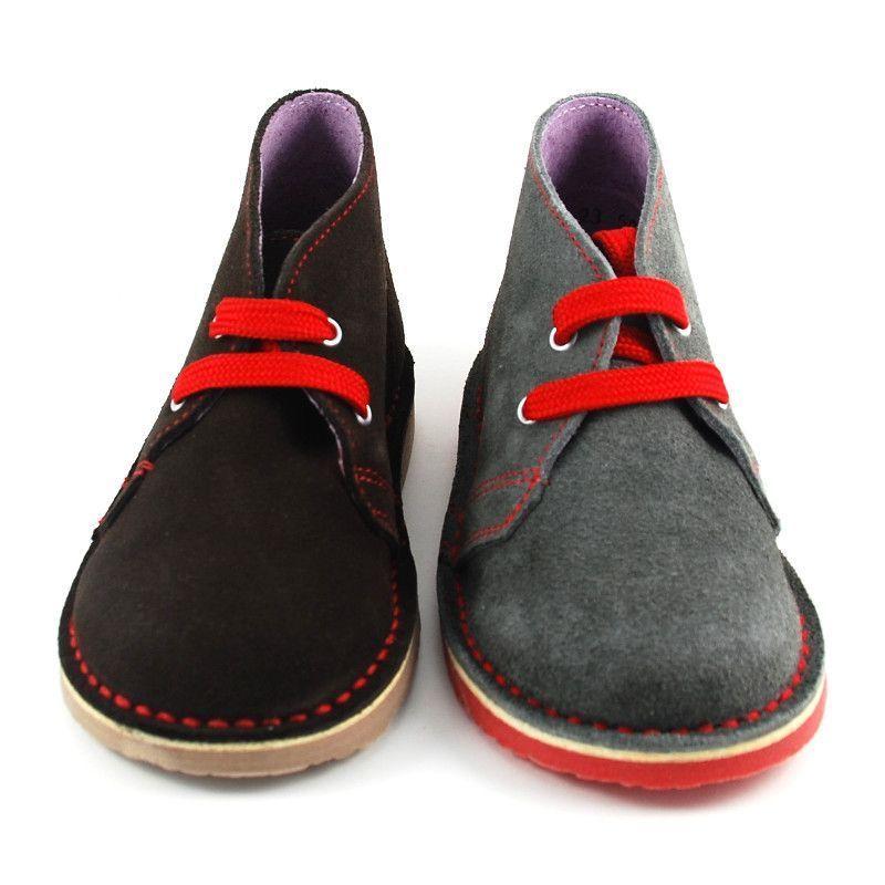 Bota Safari cordón plano combinado rojo / Pisacacas (TALLA GRANDE)