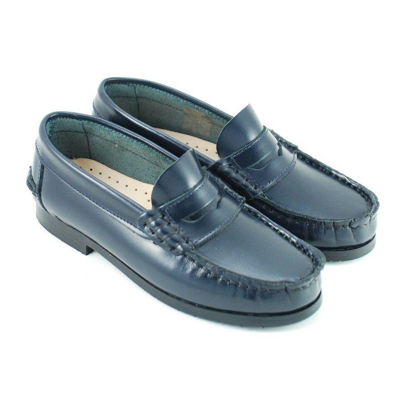 Zapato mocasin tipo castellano piel niños