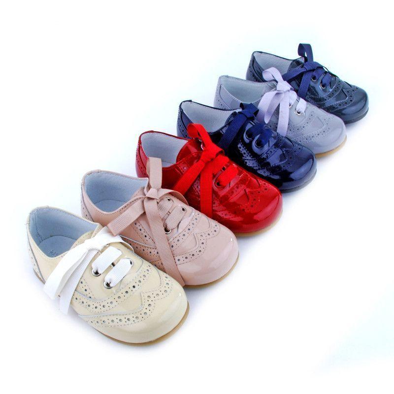 9056dbee8 Tienda venta online de zapato blucher de charol niño y niña con ...