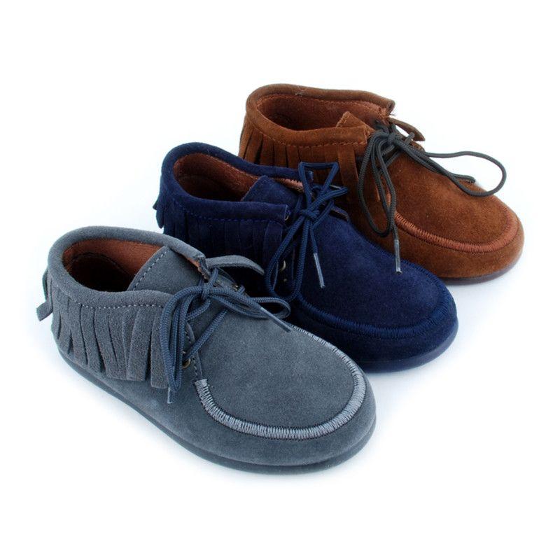 654baa87f Tienda online de botines de flecos de serraje ante para niño y niña ...