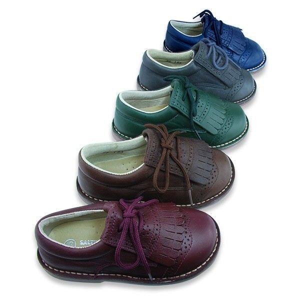 Zapato Blucher Flecos Piel Niños